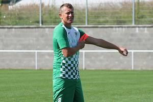 Českokrumlovský kapitán Václav Beránek vstřelil v Blatné vítězný gól.