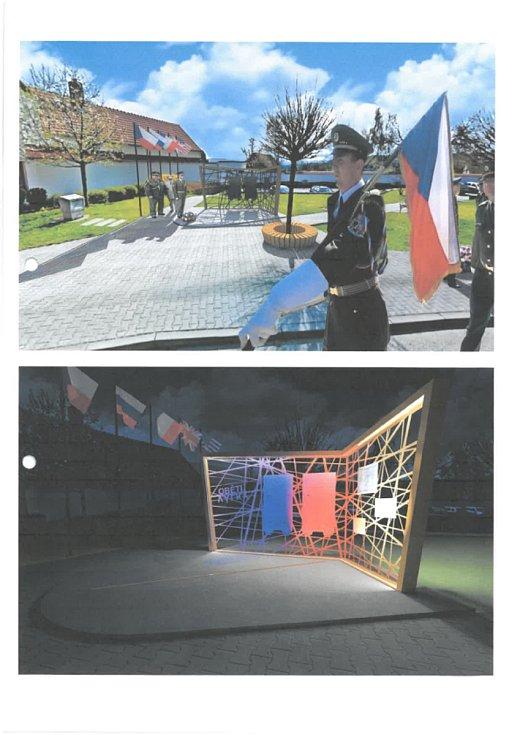 Jeden z návrhů na budoucí podobu parčíku J. V. Kamarýta ve Velešíně.