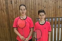 Barbora Kortusová a Patrik Fuciman na celostátním turnaji starších žáků v Aši.