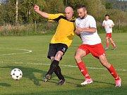 OP muži - 3. kolo: Sokol Křemže (bílé dresy) - Sokol Přídolí 3:1 (2:0).