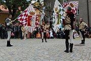 Italská praporečnická a hudební skupina Bibbiena.