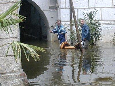 Velká voda poničila i Centrum Egona Schieleho v Českém Krumlově.