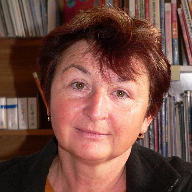 Jiřina Kostková, vedoucí knihovny, Kaplice