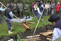 V sobotu si návštěvníci prohlédli poslední letošní ukázku plavení dřeva.