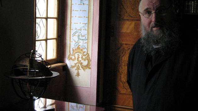 Převor Jan Justin Berka z cisterciáckého kláštera ve Vyšším Brodě.