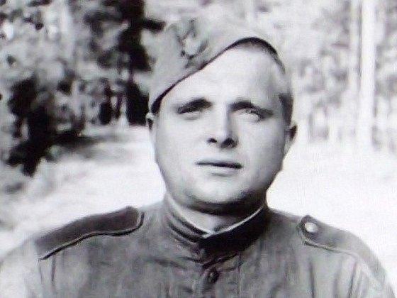 Sovětský vojín - asi v Kaplici.