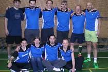 Badmintonisté prvního týmu Sokola Křemže (na archivním snímku) v této sezoně suverénně ovládli krajský přebor a v kvalifikaci pak vybojovali pro oddíl z Podkletí historický postup do 1. ligy.