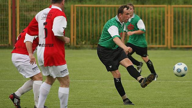 Fotbalové utkání A skupiny oblastní I. A třídy / TJ Smrčina Horní Planá - SK Slavia České Budějovice 1:3 (1:2).