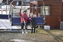 Předposlední sobotní lyžovačka na Lipně.