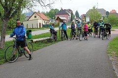 Na kole kolem Horní Plané vyrazilo 125 lidí. Do akce se zapojila i parta cyklistů až z Kolína.