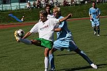 Fotbalové utkání krajského přeboru mužů / FK Slavoj Český Krumlov - FC Písek B 1:2 (0:1).