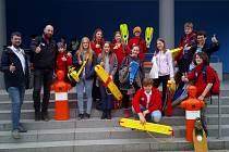 Krumlovští mladí vodní záchranáři bodovali v závodech v Mladé Boleslavi.
