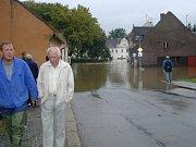 Obyvatele domů na Bělidle zasáhla povodeň jako jedny z prvních občanů Kaplice.