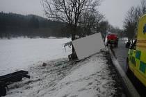 Havárie nákladního automobilu u Větřní.