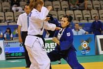 Šestnáctiletá Markéta Havlíčková (v tmavém, na snímku z letošního Evropského poháru) zůstala v Jablonci pod stupni.