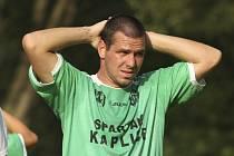 Vyrovnání měl v 75. minutě na noze rekonvalescent Pavel Pulec, ale na čkyňského brankáře nevyzrál.