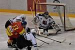 KL muži – 11. kolo: TJ Sokol Radomyšl (červené dresy) – HC Slavoj Český Krumlov 1:4 (1:1, 0:2, 0:1).