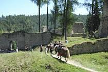 Středověký den na hradě Pořešín.
