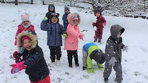 První sníh na jihu Čech