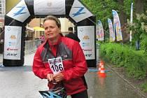 Vítězka půlmaratónu na inline bruslích Ilona Furišová.