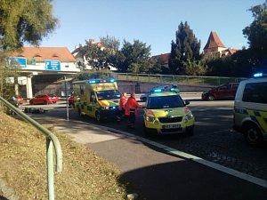 K nehodě došlo u českokrumlovské autobusové zastávky Špičák.