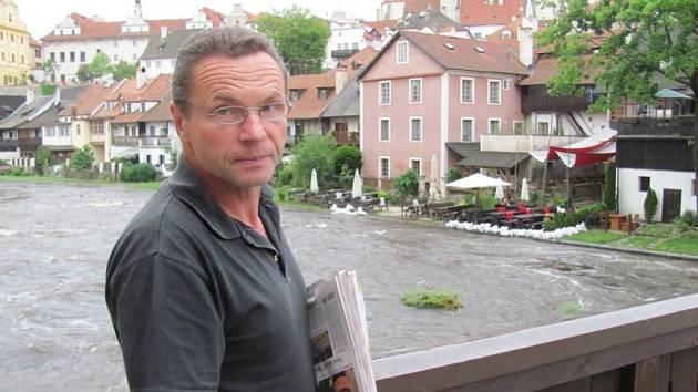 Zdeněk Zídek v Českém Krumlově.