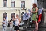 Krumlovští se na náměstí Svornosti sešli už počtvrté.