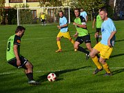 Oblastní I.B třída (skupina A) - 5. kolo (4. hrané): SK Zlatá Koruna (modré dresy) - FC Velešín 1:6 (0:3).