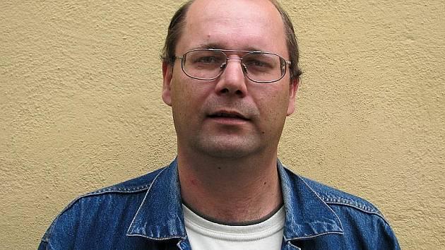 Sportovní redaktor Českokrumlovského deníku Karel Vosika.