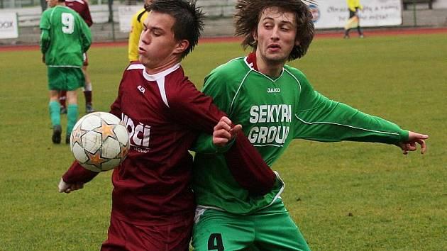 Fotbalové utkání A skupiny divize staršího dorostu / FK Slavoj Český Krumlov - FC Písek 2:0 (0:0).