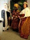 Tři králové zavítali také před starou radnici ve Vyšším Brodě.