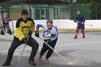 Termiti na svém hokejbalovém hřišti.