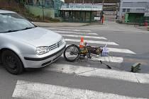 Při dopravní nehodě auta a Babetty ve Větřní utrpěla jedna osoba lehké zranění.