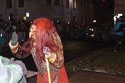 Diváci se během Krampus show Kaplice náramně dobře bavili.