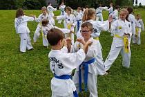 Mezinárodní letní tábor si užily děti velešínského taekwonda v Přední Výtoni.