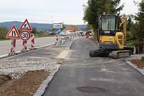První etapa nové cyklostezky v Černé v Pošumaví.