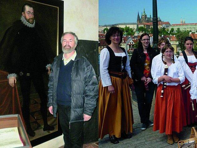 Zdeněk Krajíček (na levém snímku) ve Štafetě Deníku zpovídá Renatu Pyšíkovou (na pravém snímku zcela vlevo).