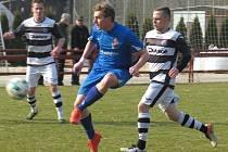 Oblastní I.B třída (skupina A) – 14. kolo: FK Spartak Kaplice (bíločerné dresy) – FC Šumava Frymburk 5:0 (3:0).