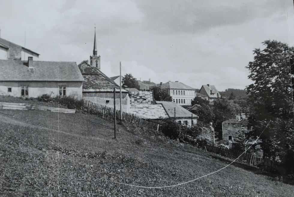 Frymburk v 50. letech 20. století na snímku Josefa Junka.