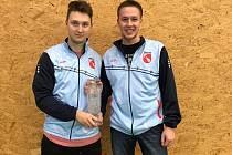 Křemežští mladíci Petr Beran a Jindřich Kukač (zleva) na Těšínském poháru.