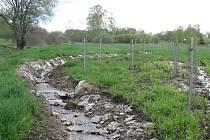 Maňavský potok je vysvobozen z betonu