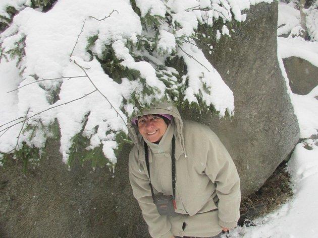 Zima u Čertových proudů.