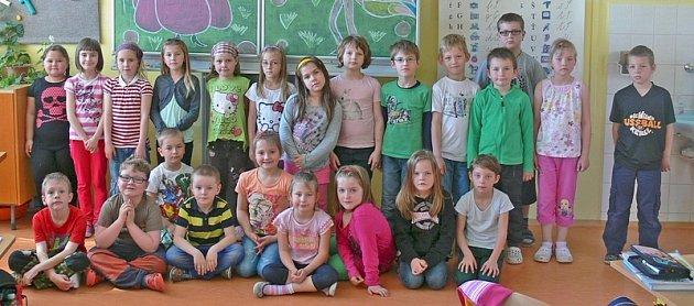 Prvňáčci z Velešína.