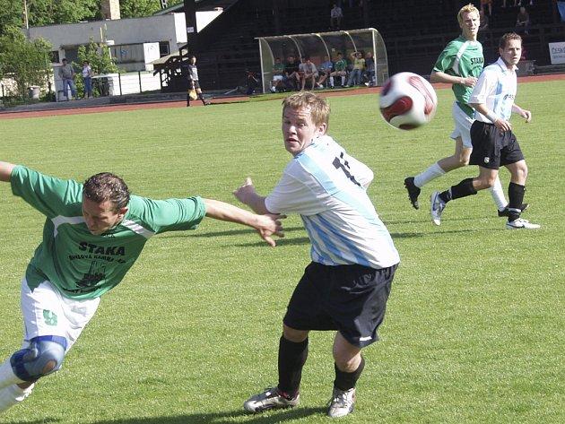Další derby v I. B třídě obstaraly Č. Krumlov B a Frymburk.
