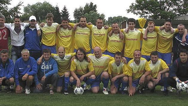 Vítěz skupiny A oblastní fotbalové I. B třídy 2010/11 – Sokol Křemže.