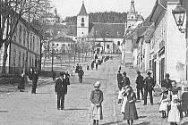 Archivní snímek Horní Plané ze začátku minulého století.