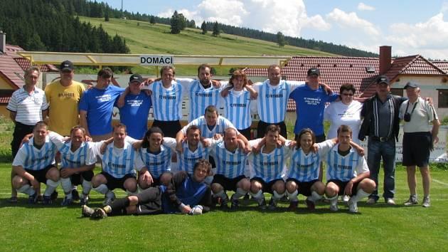 Vítěz A skupiny I. B třídy v sezoně 2007/2008 - FK Šumava Frymburk.