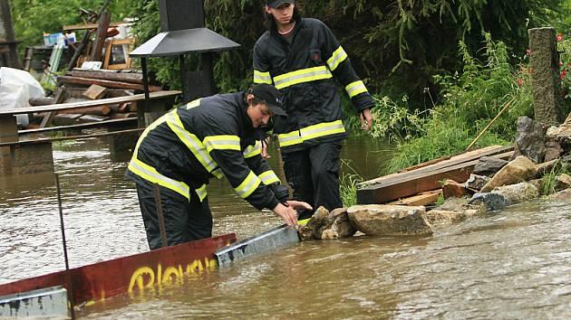 Povodně v Benešově nad Černou.