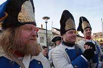 Masopustní muzika a vůně zabijačkových pochoutek se nesly v sobotu kaplickým náměstím.