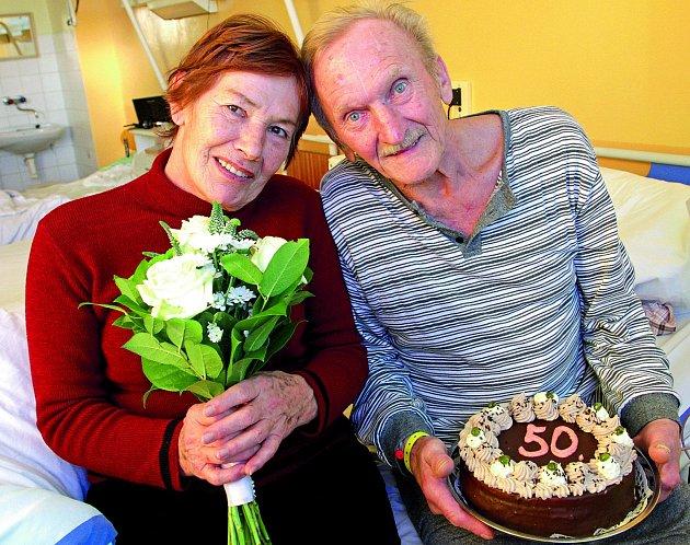 Zdeňka a Ervín Vavrečkovi oslavili zlatou svatbu